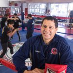 Community Youth Athletic Center co-founder and IJ client Clemente Casillas at the CYAC gym in National City, Calif.