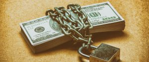 Money, Chain, Lock around stack of money